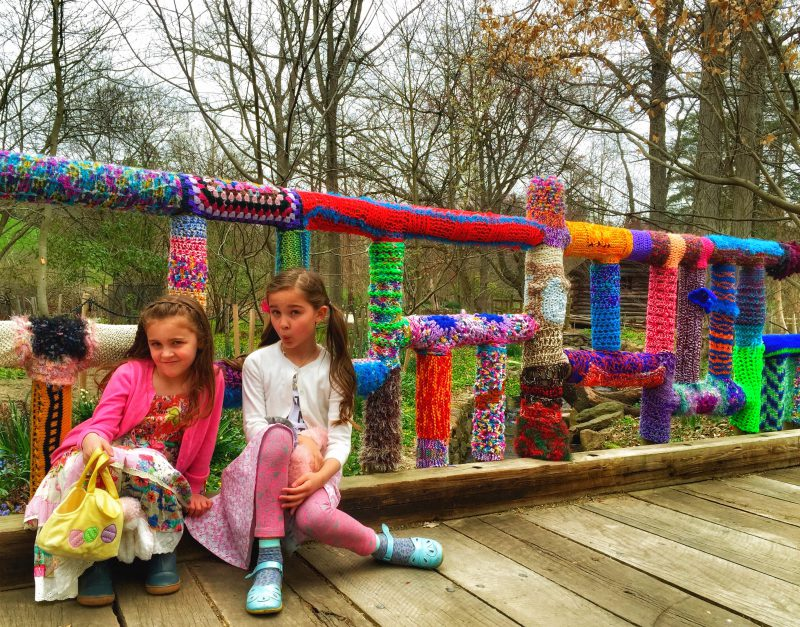 Yarn bombing At the Arboretum!