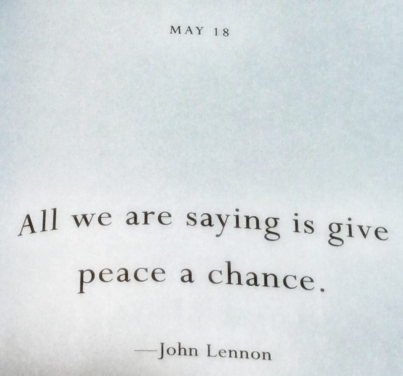 John Lennon had it right a long time ago...