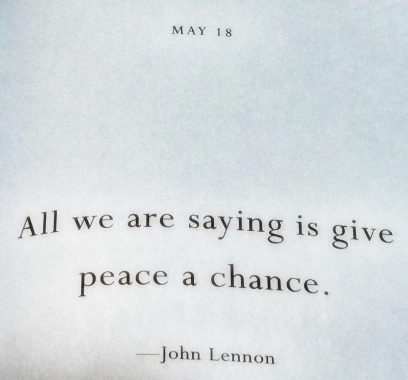 John Lennon had it right a long time ago...